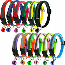 Reflective Nylon Cat Dog Safety Collar with Bell for Cat Dog Kitten