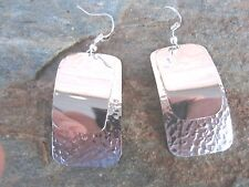 Sterling Overlay Hammered Wire Earrings by Artesanas Campesinas in Mexico  er006