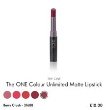 Oriflame The ONE Colour Unlimited Matte Lipstick - Berry Crush, New