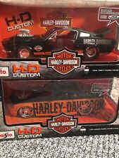 Lot Of 2 Maisto HD Custom HARLEY DAVIDSON 1/24 2010 New