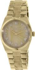 Michael Kors Womens MK6152 Channing Gold Stainless Steel Bracelet Horn Watch NIB