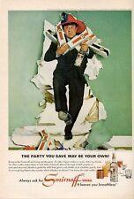 1965 Smirnoff  Vodka Vintage Bottles  Buddy Hackett PRINT AD