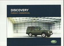LAND ROVER DISCOVERY PURSUIT COMMERCIAL SALES BROCHURE 2004