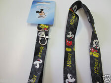 Authentic Disney Black Mickey Mouse Breakaway Lanyard / New