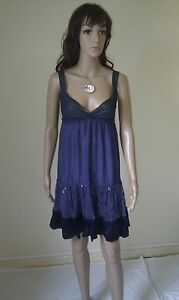 WAREHOUSE Evening Cocktail Party Dress. SILK. Lovely. Sequinned. SIZE 8