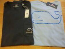"Vineyard Vines ""Vintage Whale� L/S T-Shirt, Nwt - Mens L + Xl - Jake, Navy Blues"