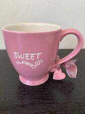 Starbucks Coffee 2006 Tea Mug Cup Sweetheart Pink W/heart charm 15 Oz. New