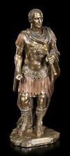 Gaio Giulio Cesare Caesar Bronzierte Statuina 26 cm Collezione Veronese