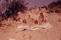 Vintage Photo Slide 1950s Kids Beach Sand