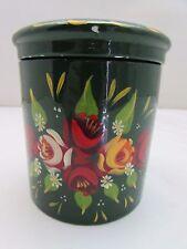 Tea Caddy/Zucchero Vaso Porcellana dipinti a mano di Anne YOUNG 11cm