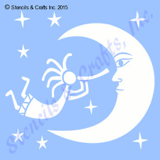 Primitive Stencil~MOON TALES~Magical Mystic Enchanting Vintage Old Fashion Style