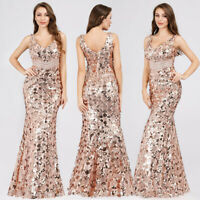 Ever-Pretty Sequins Wedding Prom Ball Gown Formal Long Evening Party Dress 07872