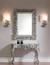 console murale Argent + miroir ancien frisieur flurpiegel baroque table