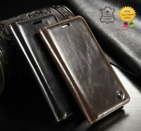 Genuine Real Leather Wallet Flip Case Cover for iPhone 7, 7 Plus 8, 8 Plus