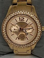 Fossil ES3590 Stella Women's Rose Gold Stainless Steel Analog Dial Watch Ee128