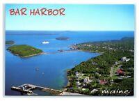 Postcard Aerial View of Bar Harbor, Maine Bar Island ME MS112A