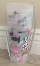 Cynthia Rowley Party Dogs Plastic Tumblers Cups Set Of 6 Ice Tea Glasses Scottie