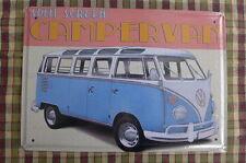 VW Camper Van Split Screen Tin Metal Sign Painted Poster Wall Art Office Garage