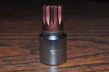 "14MM 12 Points Stuby Short Allen Socket 3/8 Drive 1-1/2"" Overall Length Vim"