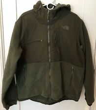 North Face Mens Denali Fleece Hoodie L Climbing Ivy Green/Rosin Hooded Jacket