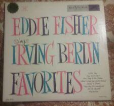 """EDDIE FISHER Sings Irving Berlin Favorites 10"""" Vinyl LP33 Pop Album EX Mono 1953"""