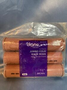 """Diane 1 1/2"""" Jumbo Cold Wave Rods Curlers Hair Perm #DCW15 6. New in original pk"""