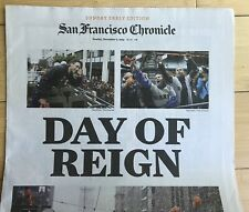 SAN FRANCISCO CHRONICLE newspaper cover GIANTS 2014 World Series baseball MLB