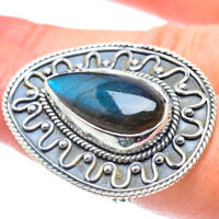 Gigantic Labradorite 925 Sterling Silver Ring Size 7.75 Ana Co Jewelry R57710F