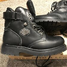 Men's HARLEY-DAVIDSON® Sz 7 W Lace-Up/Strap 91017 Motorcycle Riding Boots New