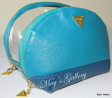 Guess Handbag Wallet Cosmetic Bag Make Up Case Purse Hand Bag Jewel NWT set of 2