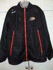 Reebok Center Ice Ducks NHL Athletic Track Suit Jacket Pants Mens Sz Large EUC