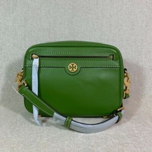 NEW Tory Burch T Monogram Shiso Leather Camera Bag - $378