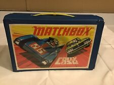 Vintage Lesney Matchbox Carry Case With Cars