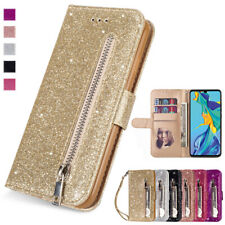 Glitter Leather Wallet Case Zipper Flip Cover for Huawei P20/30 Mate 20 Lite Pro