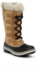 Sorel Womens Size 6 Tofino Cate Snow Cold Weather Curry Black Boots VGUC