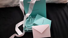 Tiffany & Co. Empty Gift Box, Gift  Bag, Pouch, Ribbon & Tiffany Blank Card  NEW