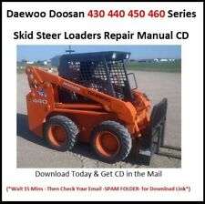Daewoo Doosan 430 440 450 460 Series Skid Steer Loaders Service Repair Manual
