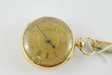18ct H.W. Barrett Open Face Fusee Pocket Watch - London 1827 - 18k