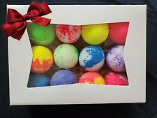 Premium Quality Fizzy Bath Bombs Lot of 12 Gift Box Included!