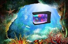 Lightahead® Artificial Mini Desktop Aquarium w swimming Fish Rgb Color Led Tank