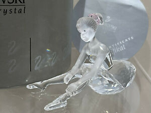 Swarovski Crystal Figurine Young Ballerina Pink Hair Bow 7550 000 007