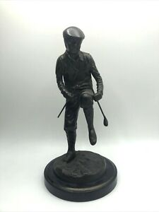 Bronze Frustrated Golfer Statue SF BAY TRADING CO