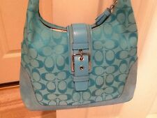 NWT Coach Soho Buckle Flap Shoulder Hand Bag Purse AQUA BLUE New RARE