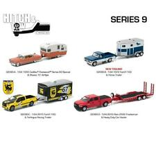 GREENLIGHT HITCH & TOW SERIES 9 SET OF 4 DIECAST MODEL CARS 1:64 32090 A B C D