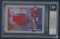 LARRY ROBINSON 2004-05 ITG ULTIMATE MEMORA COUNTRY OF ORIGIN SILVER 15/25  15338