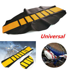 Universal Gripper Soft Motorcycle Seat Cover Rib Skin Rubber Dirt Bike Enduro