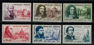 (b23) timbres de France n° 1257/1262 neufs** année 1960