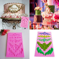 Baroque Sculpture Silicone Fondant Mould Cake Decor Emboss Icing Sugarcraft Mold