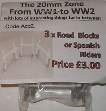 Early War 20mm (1/72) Road Blocks / Spanish Riders (3)
