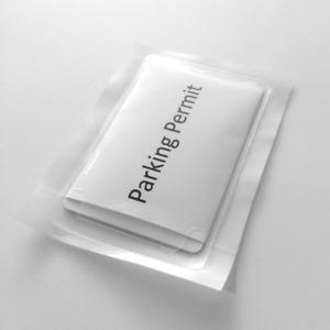 Self Adhesive Clear Car Windscreen Holder Parking Permit 93x58mm Window Sticker